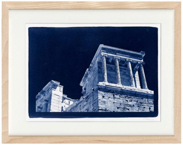 Akropolis - Cyanotypie - Fine Art Print von Thilo Nass