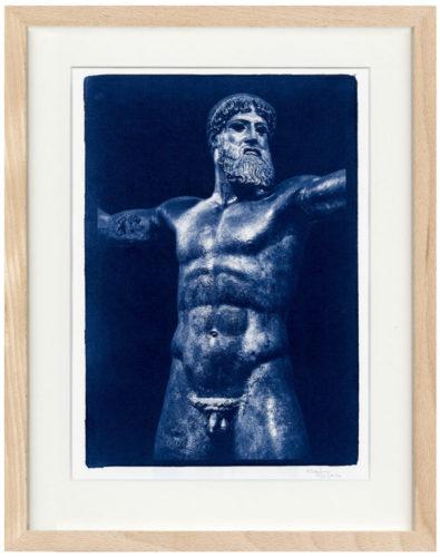 Poseidon Cyanotypie - Fine Art Print von Thilo Nass