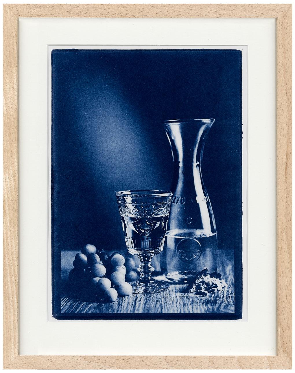 Weinglas mit Trauben