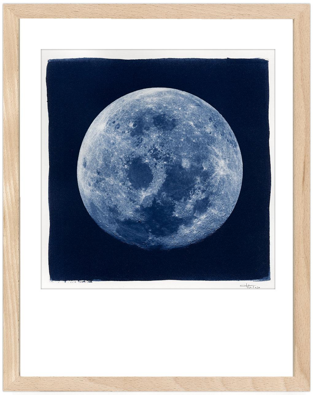Moon Cyanotypie von Thilo Nass
